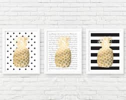 Pineapple Home Decor Pineapple Decor Etsy
