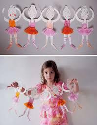 mer mag paper doll chain ballerinas mer mag