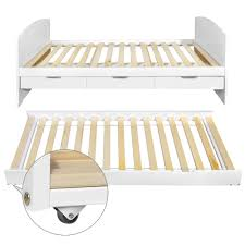 Single Bed Frame With Trundle Wooden Single Bed Frame Pine Wood With Drawers Trundle Adults