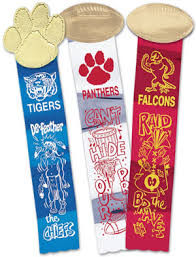football ribbon it s time and these metallic ribbons the shine