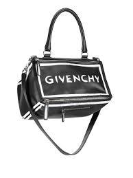 lyst givenchy pandora leather graffiti shoulder bag in black