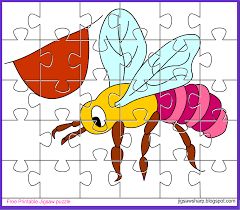 free printable jigsaw puzzle game bee jigsaw puzzle