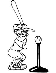 printable baseball player coloring page t ball player