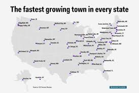 Newark Ohio Map by The Fastest Growing Town In Every State Mental Floss