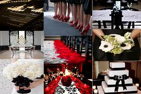 Red And Black Wedding Red Silver And Black Wedding