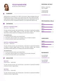 cascade professional resume template resume format doc file