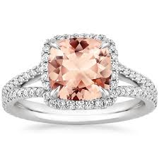 gold and morganite ring morganite fortuna ring in 18k white gold brilliant earth