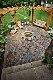 backyard fire pit diy home outdoor decoration