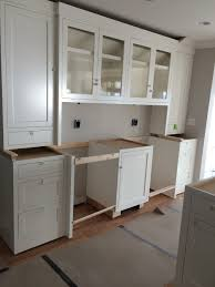 seaview kitchen remodel underway progress pics details cabinetry plain fancy custom color match to benjamin moore s simply white