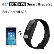 blood pressure bracelet iphone images R11 ecg ppg smart bracelet heart rate blood pressure monitor sport jpg
