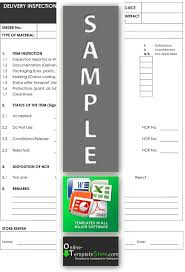 ncr report template quality forms construction templates