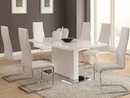 stainless steel table legs contemporary formal dining room sets
