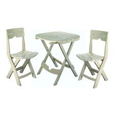 Outdoor Bistro Chairs 3 Piece Easy Fold Outdoor Bistro Set In Desert Clay Color