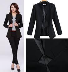 2017 2014 fashion business suits for office ladies black color