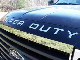 ford super duty front hood chrome letter inserts 2008 2009 2010