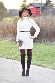 dresses with boots sweater dress the knee boots the chambray bunny
