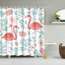 Flamingo Shower Curtains Fred Flamingo Shower Curtain And Wilde