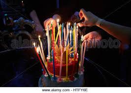 amazing happy birthday candle blazing amazing birthday candles happy birthday party stock photo