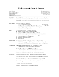 Resume Rejection Letter Undergraduate Resume Template