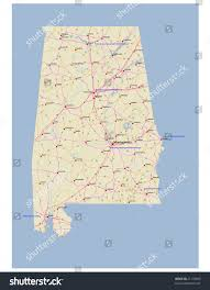 Highway Map Usa by Reference Map Of Alabama Usa Nations Online Project Alabama