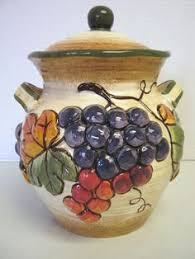 wine kitchen canisters tuscany grapes cookie jar wine kitchen canister decor ceramic