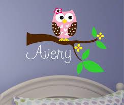 owl nursery decor photograph baby girl wall decal baby girl wall decal owl tree nursery decor