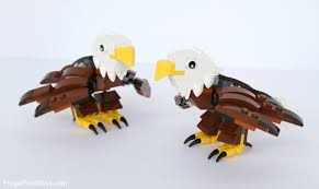 how to build a lego bald eagle with eaglets