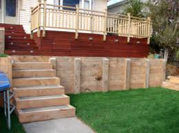 Timber Retaining Wall Design Wellington Kapiti Porirua - Timber retaining wall design