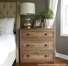Dresser As Nightstand The New Nightstands An Ikea Tarva Hack Oak House Design Co