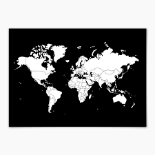 Black And White World Map Go World By Bold Tuesday Bold Tuesday