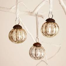 antique effect glass bauble set of three by paper high