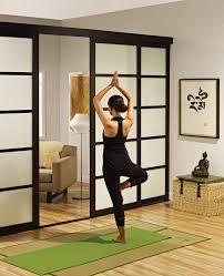 sliding glass room dividers yoga