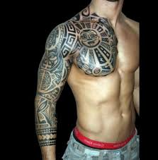 tribal chest tattoos polynesian tribal chest designs best