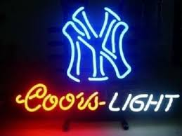 coors light sign amazon yankees neon signs new york yankees neon sign yankees neon sign