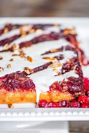 cranberry upside down cake easy christmas cake with nuts and glaze