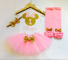 minnie mouse 1st birthday personalized pink and gold minnie mouse 1st birthday