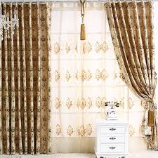 Yarn Curtains Western Style Yarn Blending Novelty Solid Curtains Buy Beige
