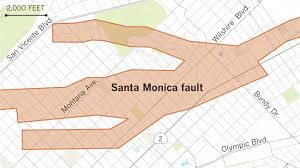 Time Zone Map For Usa Earthquake Fault Maps For Beverly Hills Santa Monica And Other