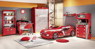 Cool Boys Bedroom Furniture Enchanting Modern Racing Car Bed Frames With Red Cabinetry Like