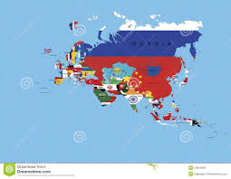 Map Of Europe And Asia by Europe Asia Flags Background Map And State Names Royalty Free