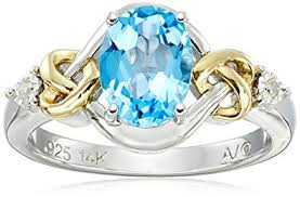 blue rings images Sterling silver and 14k yellow gold diamond and swiss jpg