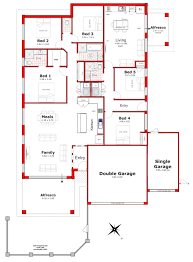 designs 205 independant dual living granny flat house plan