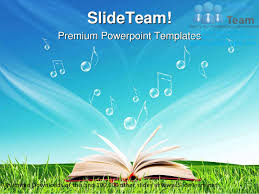 magic book music notes nature powerpoint templates themes and