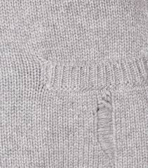 saint laurent cashmere knitted cardigan gris chine clair grey
