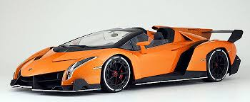 orange and black lamborghini lambo veneno roadster orange w white stripes kyo 9502or