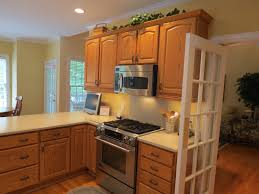 49 most necessary dark kitchen cabinets blue walls with oak paint