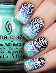 50 blue nail art designs art and design