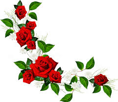 halloween borders transparent background decorative element with red roses white flowers and hearts with