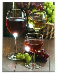 Grapes And Wine Home Decor Wine Decor Wall With Led Lights Canvas Print