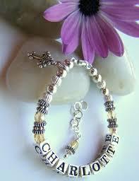 Baby Name Bracelet Baby Name Bracelets Name Bracelets Baby Bead Treasures